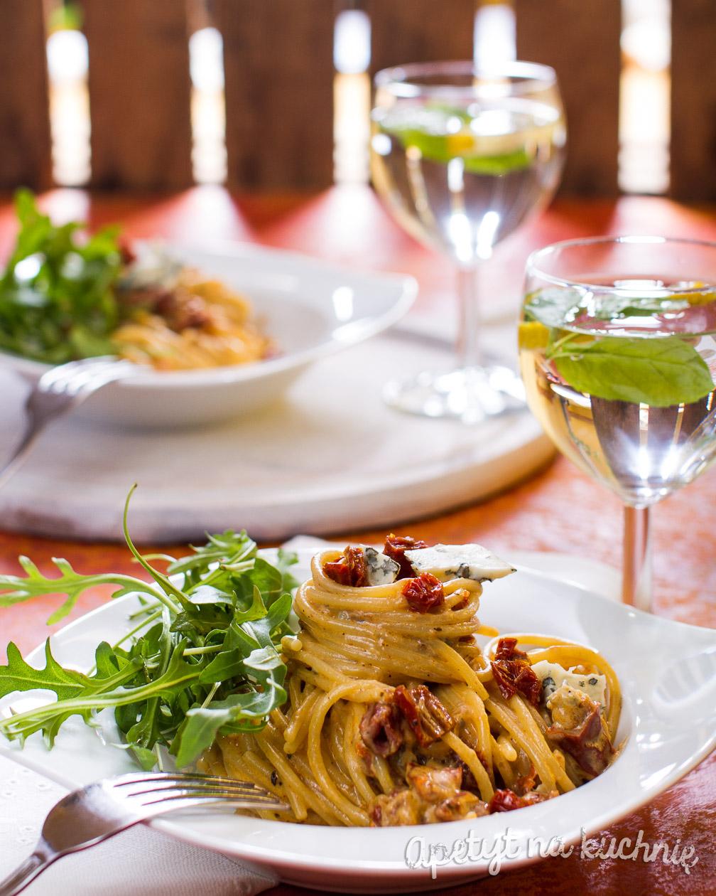 Spaghetti Z Suszonymi Pomidorami Gorgonzolą I Rucolą Blog