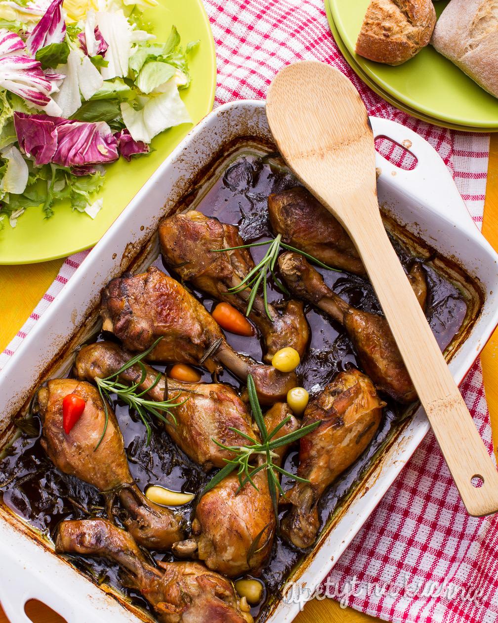 Podudzia Kurczaka W Ciemnym Piwie Blog Apetyt Na Kuchnie
